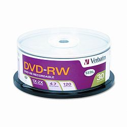 DVD-RW Discs 4.7GB 2x Spindle Pack of 30 (VER95179)