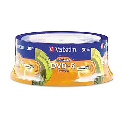 DVD-R Light Scribe Discs 4.7GB 16x Spindle Gold Pack of 30 (VER95339)