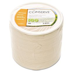 Conserve Sugar Cane Bowl 12 oz. White Pack of 100 (BAU10222)