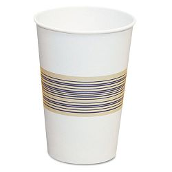 Paper Hot Cups 12 oz. BlueTan 20 Bags of 50 Carton of 1000 (BWK12HOTCUP)