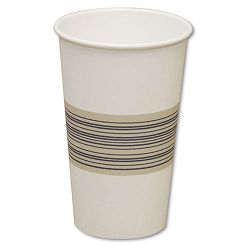 Paper Hot Cups 16 oz. BlueTan 20 Bags of 50 Carton of 1000 (BWK16HOTCUP)