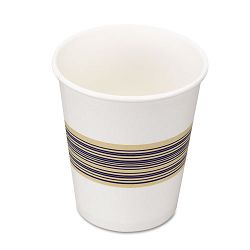 Paper Hot Cups 8 oz. Blue & Tan 20 Bags of 50 Carton of 1000 (BWK8HOTCUP)