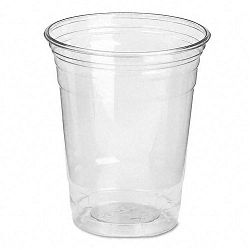 Clear Plastic PETE Cups Cold 12 oz. WiseSize Packs Carton of 500 (DXECP12DX)