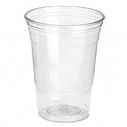 Clear Plastic PETE Cups Cold 16 oz. WiseSize Packs Carton of 500 (DXECP16DX)