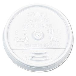 Plastic Lids for 16 oz. HotCold Foam Cups Sip-Thru Lid White Carton of 1000 (DRC16UL)