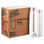 Cold Drink Cups Polycoated Paper 12 oz. Sage 24 Packs of 100Carton (DXE12FPSAGECT)