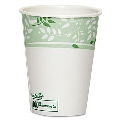 EcoSmart Hot Cups PLA Lined Paper Viridian 8 oz. Carton of 1000 (DXE2338PLA)