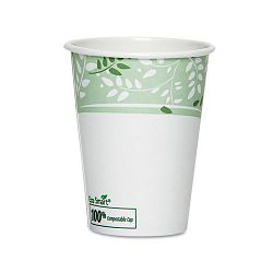 EcoSmart Hot Cups PLA Lined Paper Viridian 8 oz. Pack of 50 (DXE2338PLAPK)