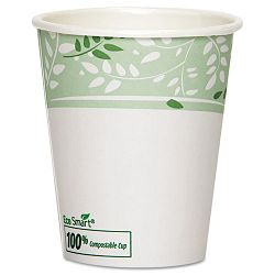 EcoSmart Hot Cups PLA Lined Paper Viridian 10 oz. Carton of 1000 (DXE2340PLA)
