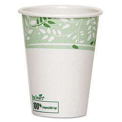 EcoSmart Hot Cups PLA Lined Paper Viridian 12 oz. Carton of 1000 (DXE2342PLA)