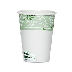 EcoSmart Hot Cups PLA Lined Paper Viridian 12 oz. Pack of 50 (DXE2342PLAPK)