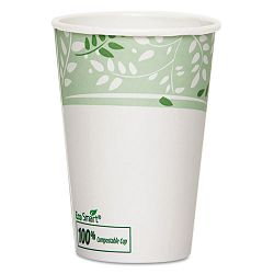 EcoSmart Hot Cups PLA Lined Paper Viridian 16 oz. Carton of 1000 (DXE2346PLA)