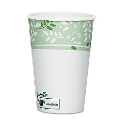 EcoSmart Hot Cups PLA Lined Paper Viridian 16 oz. Pack of 50 (DXE2346PLAPK)