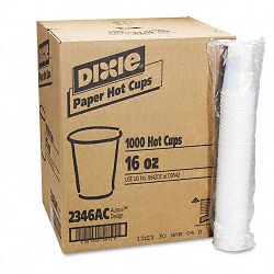 Hot Drink Cups Paper 16 oz. Sage Design Carton of 1000 (DXE2346SAGE)