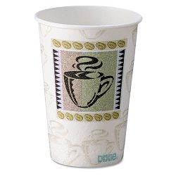 Hot Cups Paper 10 oz. Coffee Dreams Design Carton of 500 (DXE5310DX)
