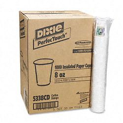 Hot Cups Paper 8 oz. Coffee Dreams Design Carton of 1000 (DXE5338CD)