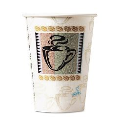 PerfecTouch Hot Cups Paper 8 oz. Coffee Dreams Design Pack of 50 (DXE5338CDPK)