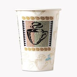 Hot Cups Paper 12 oz. Coffee Dreams Design Pack of 50 (DXE5342CDPK)
