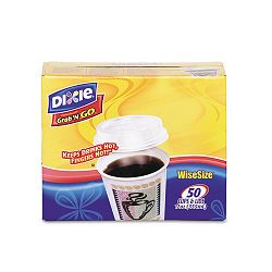 Combo Box Paper Hot Cups12 oz. White Lid 50 Cups & LidsBox (DXE5342DXCOMBO)