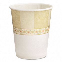 Sage Design Paper Water Cups Flat Bottom Waxed 5 oz. 24 Packs of 50Carton (DXE58SCDX)