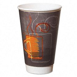 HotCold Cups Paper 8 oz. Aroma Design Carton of 500 (DXEAROREF0108)