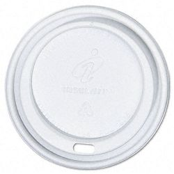 Dome Cup Lids Fits 12-16-oz. Cups White Carton of 1000 (DXEPDL1216FR100)