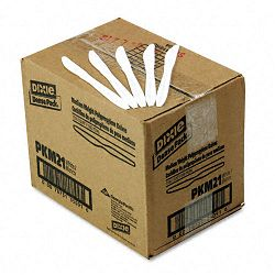 Plastic Tableware Mediumweight Knives White Carton of 1000 (DXEPKM21)