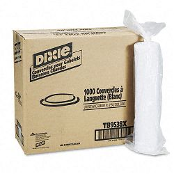 Plastic Lids for Hot Drink Cups 8 oz. White Carton of 1000 (DXETB9538X)