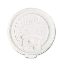 Plastic Lids for Hot Drink Cups 10 oz. White Carton of 1000 (DXETB9540)