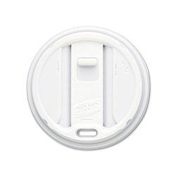 Reclosable Lids for 12- & 16-oz. Hot Cups 100 LidsPack 10 PacksCarton White (DXETP9542)