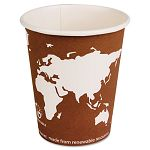 World Art Renewable Resource Compostable Hot Drink Cups 10 oz. Rust 1000Ctn (ECOEPBHC10WA)