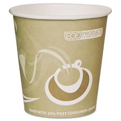 Evolution World 24% PCF Hot Drink Cups 10 oz. Tan Pack of 50 (ECOEPBRHC10EWPK)