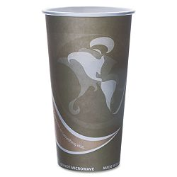 Evolution World 24% PCF Hot Drink Cups 20 oz. Gray Pack of 50 (ECOEPBRHC20EWPK)