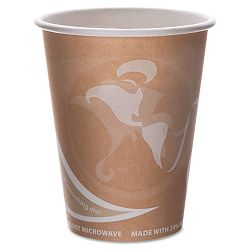 Evolution World 24% PCF Hot Drink Cups 8 oz. Peach Pack of 50 (ECOEPBRHC8EWPK)