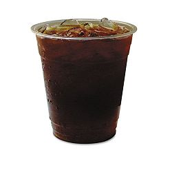 GreenStripe Renewable Resource Compostable Cold Drink Cups 12 oz. Clr Pack of 50 (ECOEPCC12GSPK)