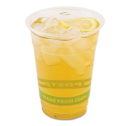 GreenStripe Renewable Resource Compostable Cold Drink Cups 16 oz. Clr 1000Ctn (ECOEPCC16GS)