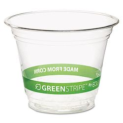 GreenStripe Renewable Resource Compostable Cold Drink Cups 9 oz. Clr Pack of 50 (ECOEPCC9SGSPK)