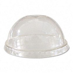 Compostable Cold Drink Cup Lids Dome Clear 1000Ctn (ECOEPDLCC)