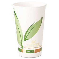 Bare EcoForward Recycled Content PCF Hot Cups 16 oz. Carton of 1000 (SLO316RC)