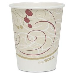 Hot Cups Symphony Design 10 oz Pack of 50 (SLO370SMJ8000PK)