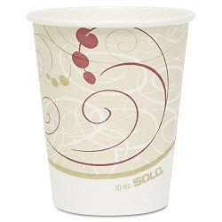 Hot Cups Symphony Design 10 oz. Beige 1000CT (SLO370SMSYM)