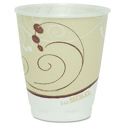 Hot Cups Symphony Design 8 oz. Beige Carton of 1000 (SLO378SMJ8000)