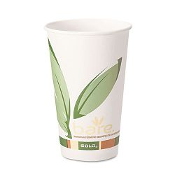 Bare EcoForward Recycled Content PCF Hot Cups 12 oz. Carton of 1000 (SLO412RCN)