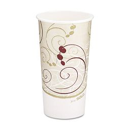 Hot Cups Symphony Design 20 oz. Beige (SLO420SMSYM)