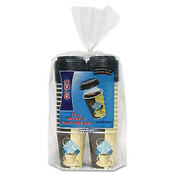 Duo Shield Insulated Paper Hot CupsLids Combo Pack 12 oz. Tuscan 52 EAPack (SLOFSIC12J753PK)