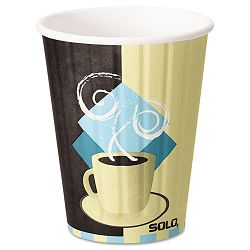 Duo Shield Hot Insulated 12 oz Paper Cups Beige 600Carton (SLOIC12)