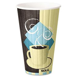 Duo Shield Hot Insulated 16 oz Paper Cups Beige 525Carton (SLOIC16)