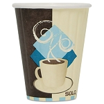 Duo Shield Insulated Paper Hot Cups Paper 8 oz. Tuscan Design Carton of 1000 (SLOIC8J7534CT)