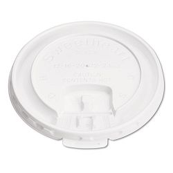 Liftback & Lock Tab Cup Lids for Foam Cups 10 oz. White Carton of 1000 (SLOLB3101)