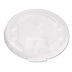Liftback & Lock Tab Cup Lids for Foam Cups wStraw Slot Translucent 2000CT (SLOLX2SBR)